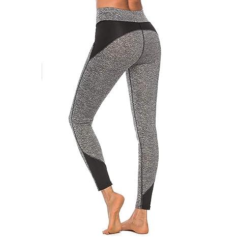 2fda4675f4f0 Amazon.com: Fad-J Women's Sport Leggings, Color Blocking Stitching ...