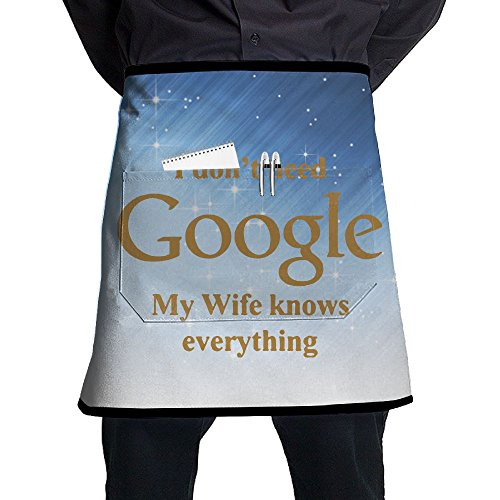 XiHuan Grill Aprons Kitchen Chef Bib Don't Need Google My Wife Know Everything Professional For BBQ Baking Cooking For Men Women - Apron Iowa Set Hawkeyes