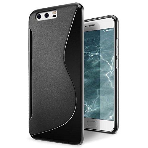 Huawei Honor V9 / Huwei Honor 8 Pro case, Aisun Mint Soft TPU Skin S Line Back Case Design Flexible Cover (Black)