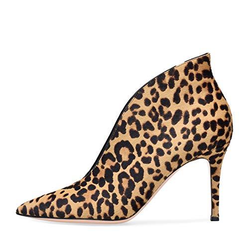 Alto Pendolarismo OL Super Cm Tacco Ufficio Appuntito Alto Altezza Stivaletto Leopard Tacco Tacco Del Stivaletti LYY Viso V 12 Donna Sottile YY wzCBqRxv6