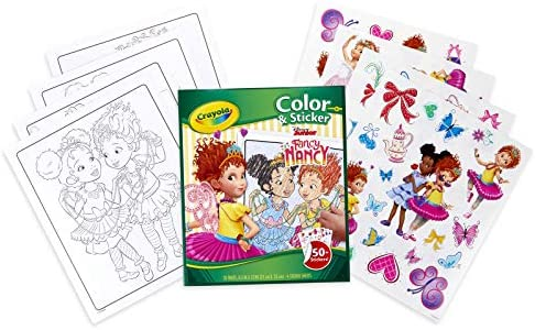 - Amazon.com: Crayola Fancy Nancy Coloring Pages & Sticker Sheets, Gift For  Girls, Ages 3, 4, 5, 6, 7, Multicolor: Toys & Games
