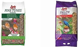 Lyric 2647440 Fine Tunes No Waste Bird Seed Mix, 15 lb & 2647462 Delite High Protein No Waste Wild Bird Mix, 20 lb