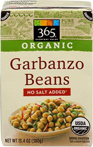 365 Everyday Value, Organic Garbanzo Beans, No Salt Added, 13.4 oz