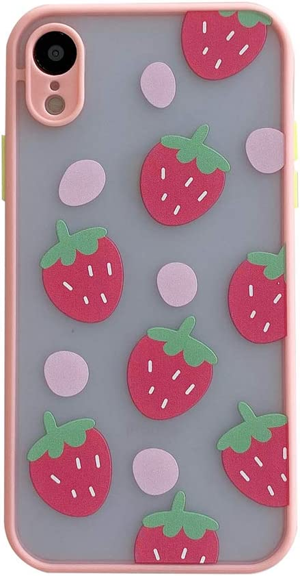 Pink Strawberries Phone Case for Apple iPhone XR 6.1
