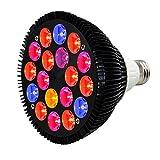 HIGROW 36W LED Grow Light Bulb Full Spectrum for Indoor Plants Veg and Flower (18LEDs, 5-Bands)