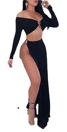 BingSai - Conjunto de 2 Piezas de Top y Falda de Vestido de Fiesta ...