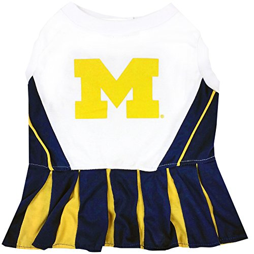 NCAA Michigan Wolverines Dog Cheerleader Outfit, X-Small]()