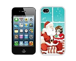 2014 Newest Santa Claus White iPhone 4 4S Case 25
