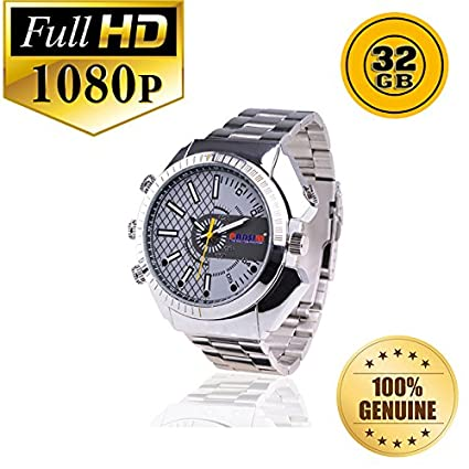 292a394f7a2 Buy PANSIM 32GB Steel HD192x1080 Waterproof Night Vision 30 Fps Hidden  Camera Watch Online at Low Price in India