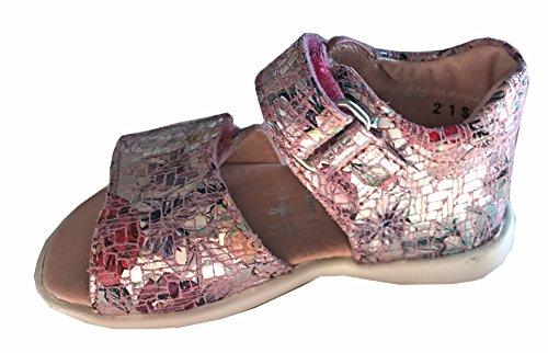 Helgas Modewelt Bonin, Däumling, Kleinkinder Sandalen, Lauflernschuhe, Sommerschuhe rosa (Spring begonia)