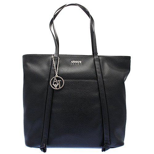 Armani Jeans Pebble Faux Leather Tote - Bag Armani Shopping