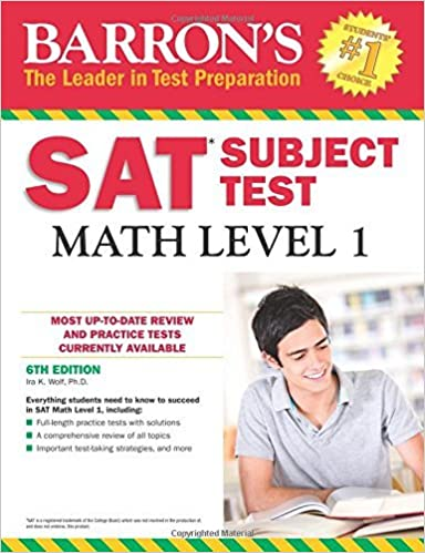 Barron's SAT Subject Test: Math Level 1, 6th Edition by Ira K. Wolf Ph.D (2016-09-01)