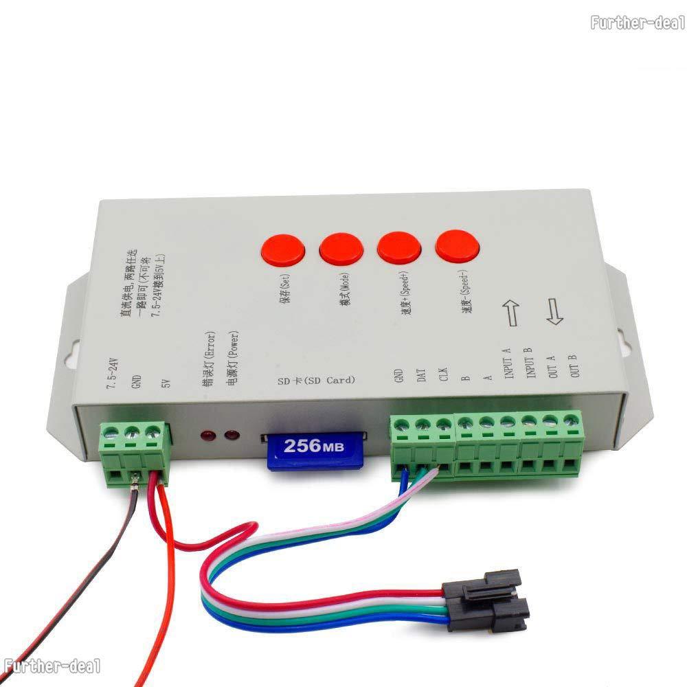 FidgetKute 5V T1000S T4000S T8000A Pixel Programable WS2812B WS2801 LPD8806 Led Controller T8000A