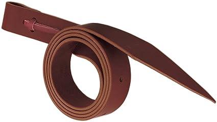 WEAVER LATIGO W// HOLES BURGUNDY LEATHER HOSRE CINCH STRAPS 1-1//4 inch x 72 inch