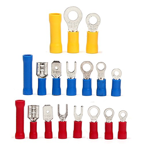 1200Pcs Insulated Electrical Wire Connector Crimp Terminals Spade Assorted Set by US Tech (Image #6)