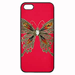 Butterfly Motif on Red Printed Plastic Rubber Sillicone Customized iphone 6 4.7 Case, iphone 6 4.7 Case Cover, Protection Quique Cover, Perfect fit, Show your own personalized phone Case for iphone 6 4.7 & iphone 6 4.7