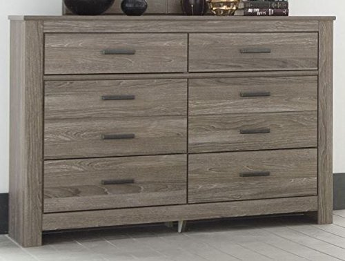 Ashley Furniture Signature Design - Waldrew Oak Grain Six Drawer Dresser - Contemporary - Warm Gray by Signature Design by Ashley