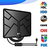 105 Miles Range HDTV Antenna, Indoor TV Antennas Amplified Digital HD Antenna Free