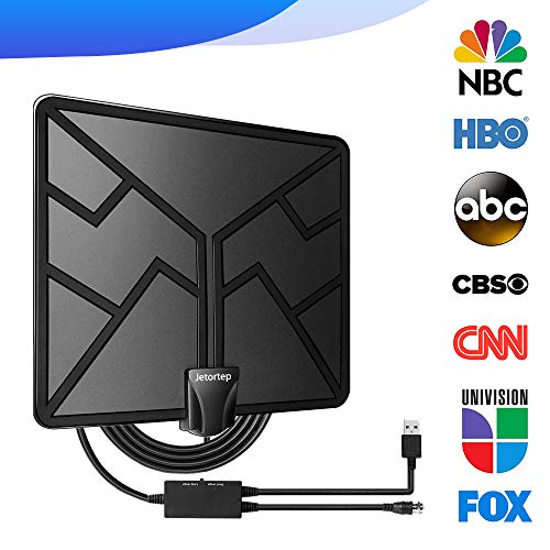 2019 Newest 105 Miles Range HDTV Antenna, TV Antenna Indoor Amplified Digital HD Antenna Free Gain Channels with High Definition Antenna Signal Booster, 4K 1080P Long Coax Cable - High Reception
