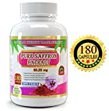Cheap Pure Saffron Extract 88.25 mg, 180 Veggie Capsules, Premium Quality, High Potency, 3 Months' Supply. Best Value on Market – Experience the Benefits of Pure Saffron Supplement
