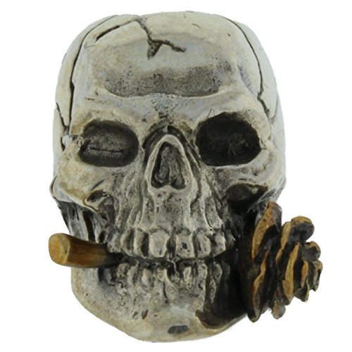 Rose Skull Paracord / Lanyard Bead in .925 Sterling Silver & Bronze by GD Skulls by Jig Pro Shop