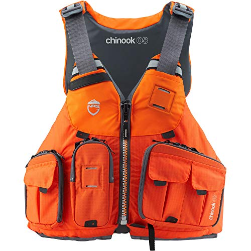 NRS Chinook OS Fishing Lifejacket (PFD)-Orange-XS/M