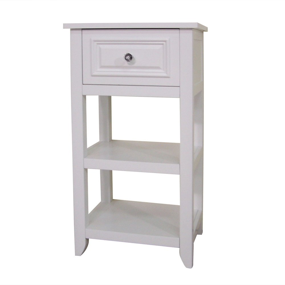 White Floor Bathroom Cabinet Amazoncom Elegant Home Fashions Dawson Collection Shelved Floor
