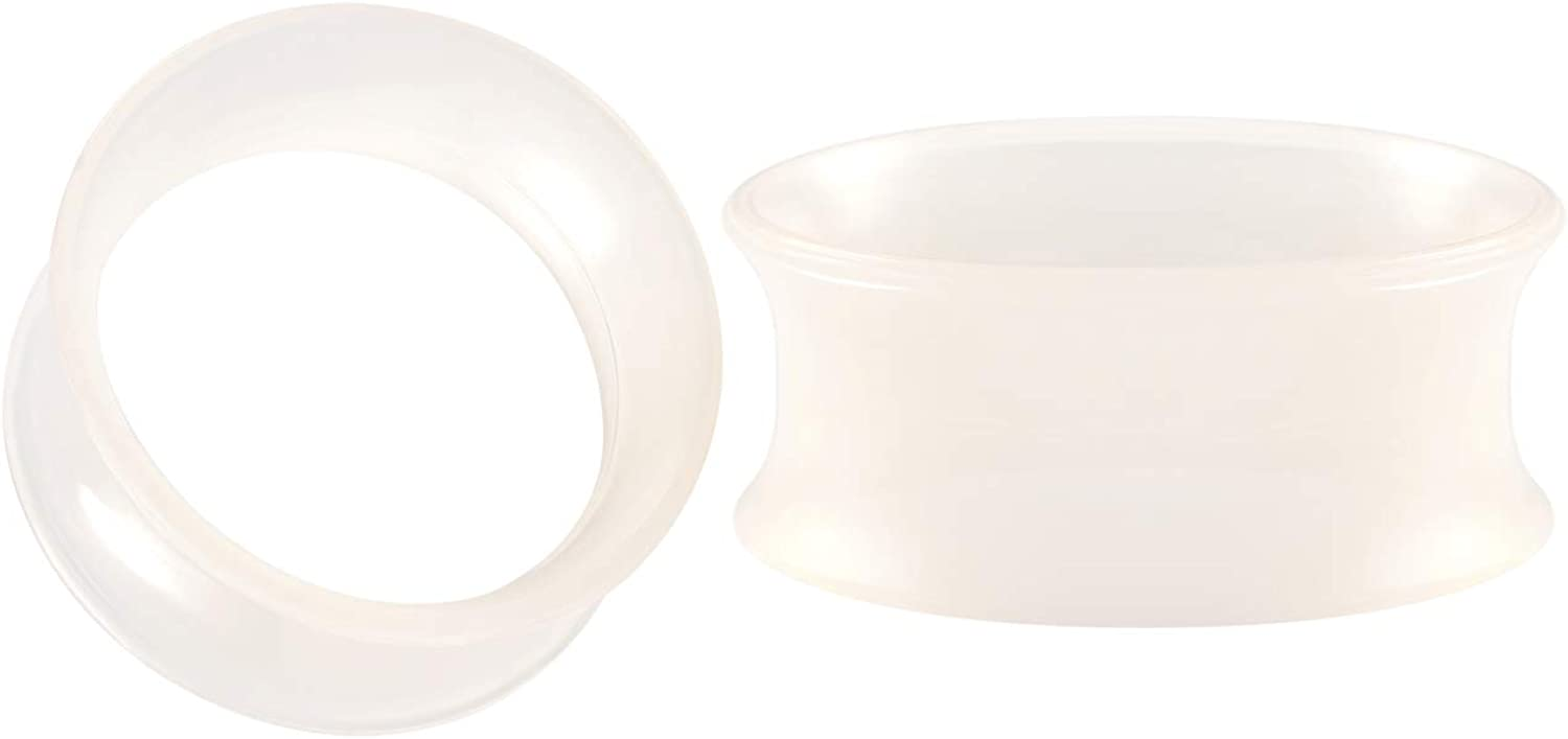 BIG GAUGES Pair of Skin Silicone Thin Double Flared Saddle Piercing Jewelry Stretcher Ear Plugs Earring Lobe Flesh Tunnel
