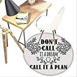 lovely master kitchen plan Dream Round Area carpet,Dont Call It a Dream Call It a Plan Inspiring Creative Quote Floral Branches Design Print,Living Room Bedroom StudyNon-Slip Round Carpet,3-Feet Diameter,Black and White
