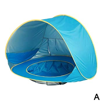 Portable Kiddies Shade Pool Tent 50 SPF UV Protection Sun Shelter Canopy for Infant Indoor and Outdoor Use Homened Pop Up Baby Beach Tent