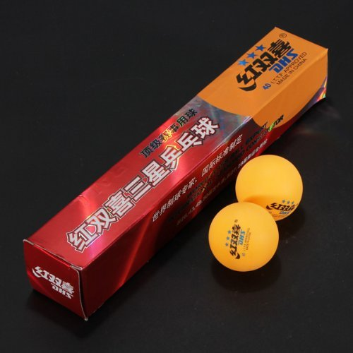 Water & Wood 6x Pro DHS 3 Stars Ping Pong Ball 40mm for Table Tennis Match Sports Games Yellow (Best Ping Pong Match)