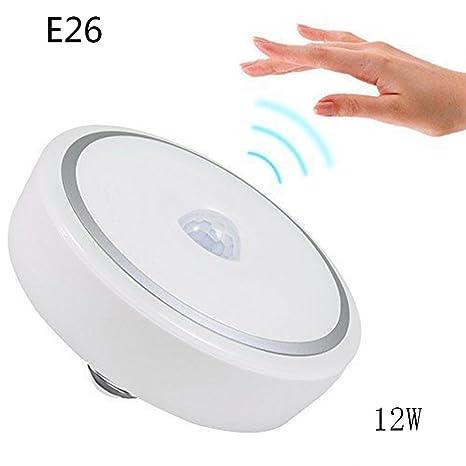 u2skiin Sensor de movimiento luz 12 W LED Detector de movimiento PIR interruptor de luz nocturna