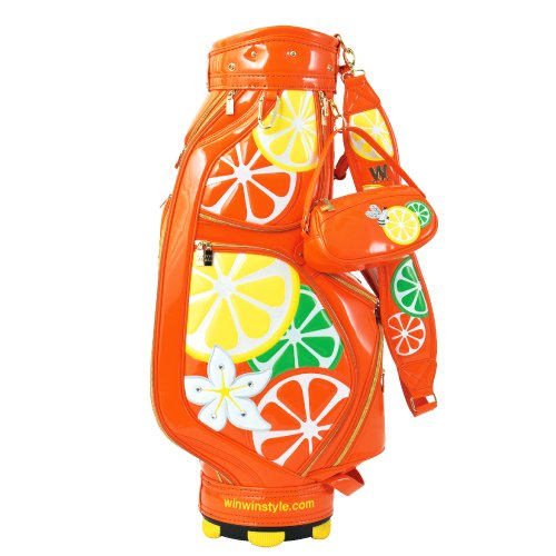 WINWIN STYLE(ウィンウィンスタイル) レディース キャディバッグ HONEY BEE CB-473 Gold/Orange   B00WHCEGX6