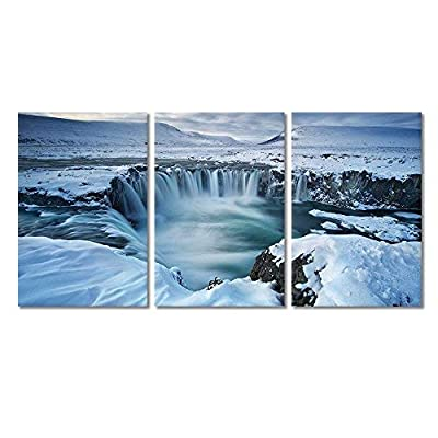 Classic Design, Delightful Expert Craftsmanship, 3 Panel Landscape Waterfall from Melted Snow x 3 Panels