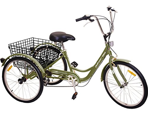 """Komodo Cycling 24"""", 6-speed Adult Tricycle #7002 - Platoo..."""