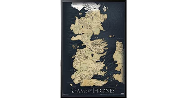 Amazon.com: Game Of Thrones - Map Poster 24x36 Dry Mounted Poster ...