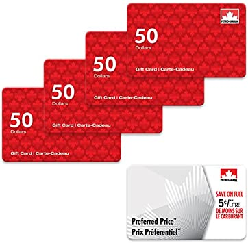 200 Petro Canada Gift Card And 25 Fuel Savings Card Amazon Ca