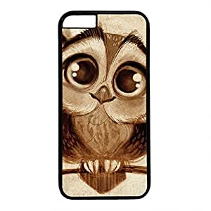 Hard Back Cover Case for iphone 6 Plus,Cool Fashion Black PC Shell Skin for iphone 6 Plus with Cute Owl