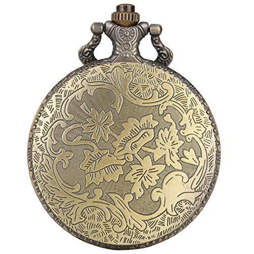 ZJZ Ny kvarts fickur antik brons hänge klocka vintage halsband klockor gåvor
