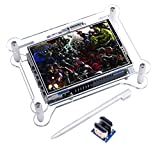 Kuman TFT Touch Screen, 3.5 Inch TFT LCD Display Monitor with Protective Case Support all Raspberry PI System, Video Movie Play, Arcade Game, HDMI Audio Input