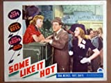 HP26 Some Like It Hot BOB HOPE/UNA MERKEL Lobby Card. This is a lobby card NOT a video or DVD. Lobby cards were displayed in movie theaters to advertise the film. Lobby cards measure 11 by 14 inches.