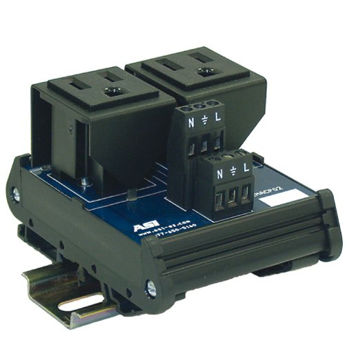 ASI IMACP02 Duplex Three Prong Modular Outlet, AC Receptacle, Din Rail Outlet by Automation Systems Interconnect