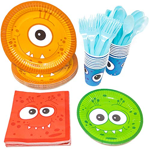 Planning A Small Halloween Party (Blue Orchards Monster Party Standard Party Packs (113+ Pieces for 16 Guests!), Monster Party Tableware, Halloween Party)
