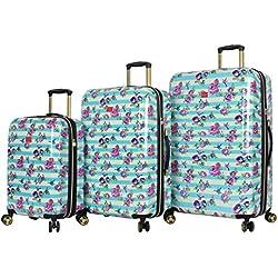 BETSEY JOHNSON S. F. Hummingbird 3 Piece Expandable Hardside Spinner Luggage Set