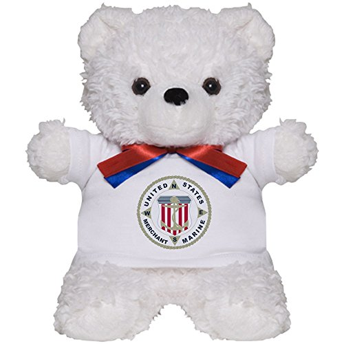 Bear Teddy Navy (CafePress - United States Merchant Marine Emblem (USMM) Teddy - Teddy Bear, Plush Stuffed Animal)