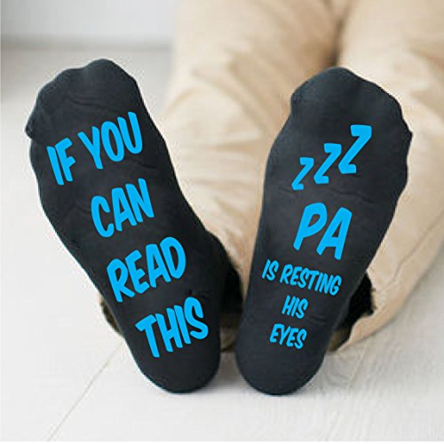 Grandpa Mens Socks Pa Is Resting His Eyes Gifts For Him