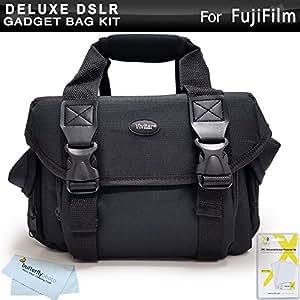 Deluxe Rugged Camera Bag / Case For Fujifilm FinePix HS30EXR, SL300, S8200 S8300 S8400, S8500, SL1000 X100S X-E1 X-M1, X-E2, HS50EXR, S8600, S9200, S9400W, S9800, S9900W, X-A2, S1, X-T1, X30 Camera ++