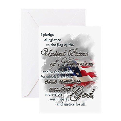 (CafePress - US Pledge - - Greeting Card, Note Card, Birthday Card, Blank Inside Matte)
