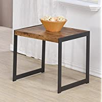 Coaster Home Furnishings 704027 End Table, NULL, Antique Nutmeg/Gunmetal