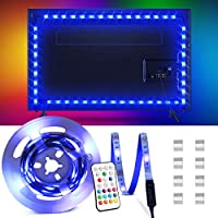 OMERIL Bande LED pour TV 2,2M, 5050 RGB Bandeau LED 16 Couleurs et 4 Modes Ruban Lumineux, Ruban LED TV Etanche avec...